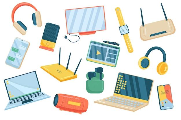 Elektronika ładny zestaw izolowanych elementów