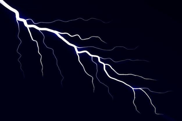 Elektryczna burza z piorunami.