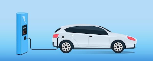Elektryczna stacja ładowania przyszłego samochodu, e-motion.