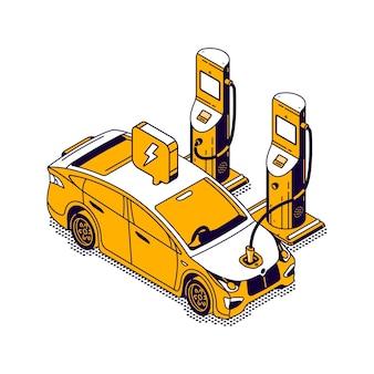 Elektryczny samochód do tankowania