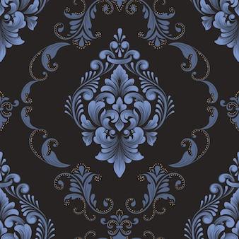 Element adamaszku wzór. klasyczny luksusowy staromodny ornament adamaszkowy