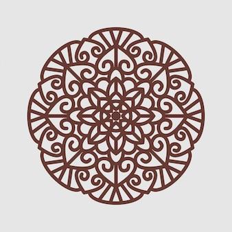Element dekoracyjny z mandali kwiatowej