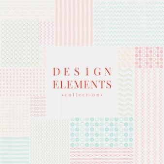 Element divider kolekcja elementów wektorowych