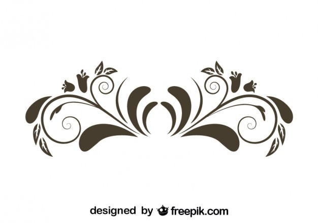 Element graficzny kwiat retro styl