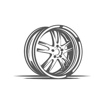Element ilustracji serwisu samochodowego
