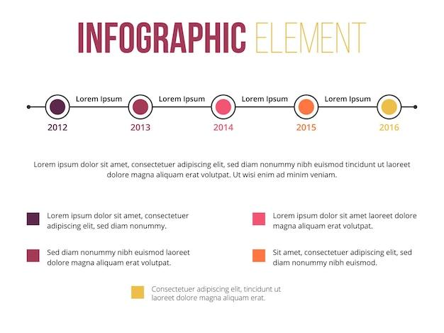 Element infografiki informacyjnej mapy drogowej