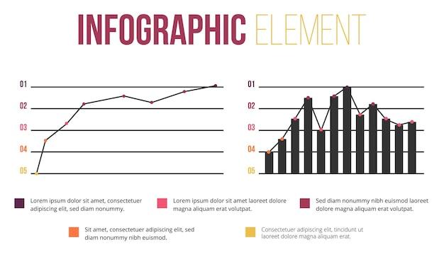 Element infografiki z informacjami o barach i falach
