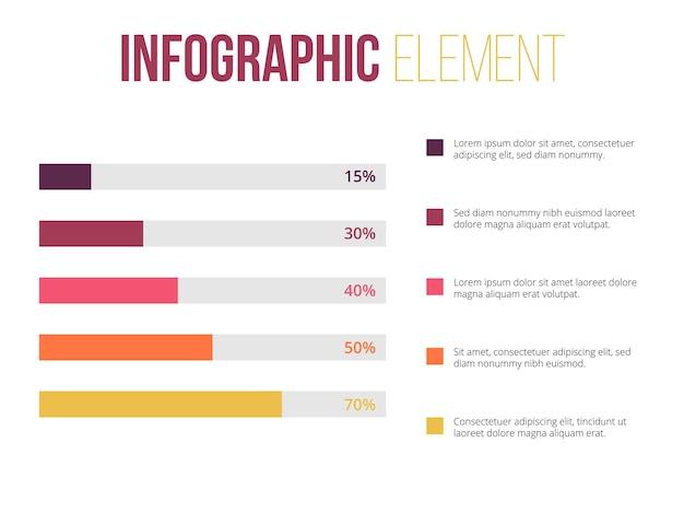 Element infografiki z informacjami o wykresie liniowym