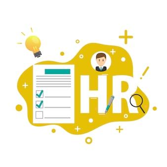 Element infografiki zarządzania zasobami ludzkimi lub hr