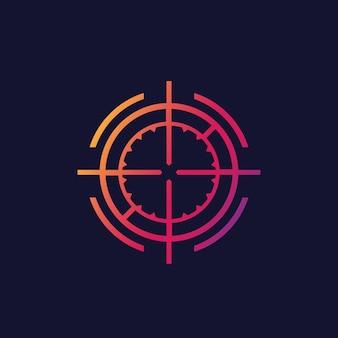 Element interfejsu użytkownika celownika wektorowego