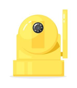Element kamery sieci web domofon cctv na białym tle
