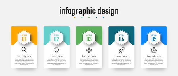 Element kroki szablon projektu infografiki na osi czasu