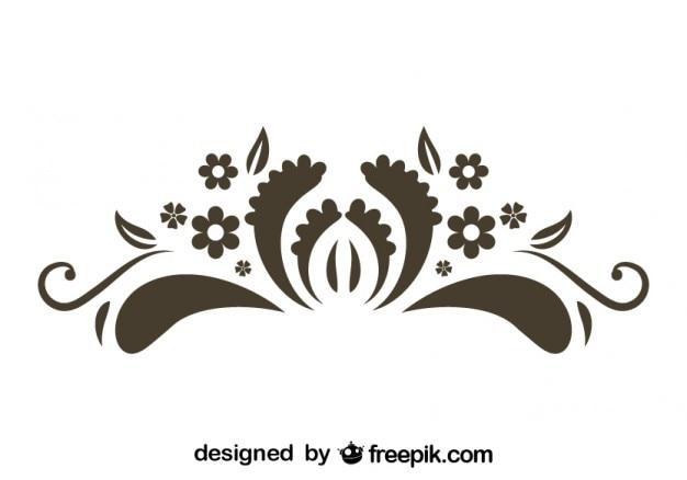 Element kwiatowy stylu retro