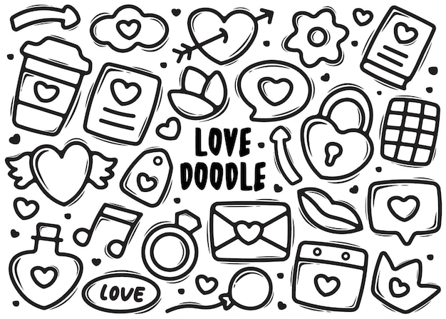 Element miłości doodle