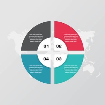 Element plansza streszczenie strategii biznesowej z liczbą
