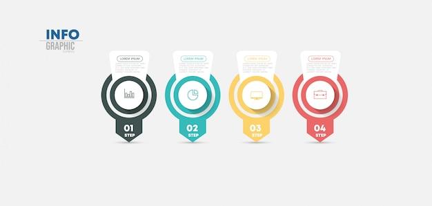 Element plansza z ikonami i opcje lub kroki.
