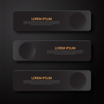 Element projektu infografiki nowoczesny minimalny czarny transparent czarny do prezentacji biznesowych.