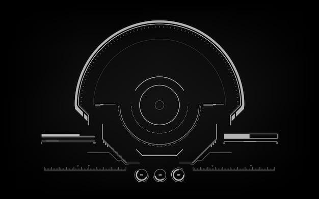 Element projektu interfejsu futurystyczny interfejs hud.