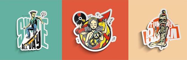Element projektu naklejki i logo