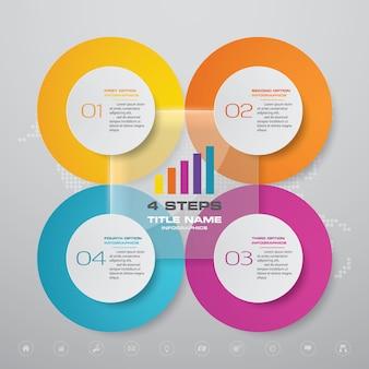 Element projektu plansza infographic