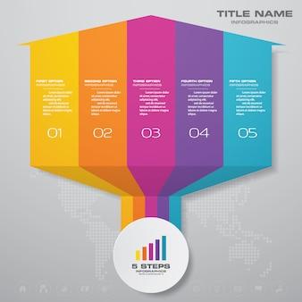 Element projektu strzałki wykresu infografiki.