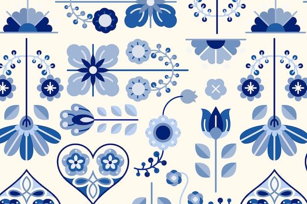 Element projektu sztuki ludowej wzorzyste tło