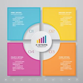 Element projektu wykresu infografiki