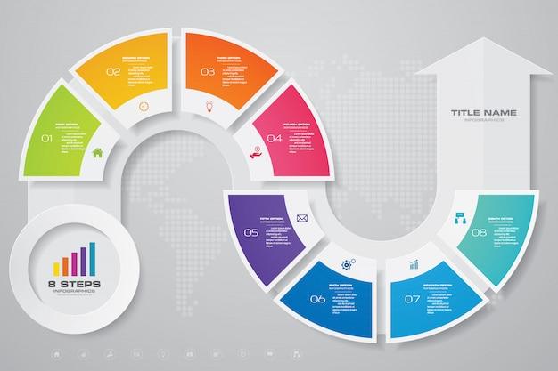 Element projektu wykresu strzałki infografiki.