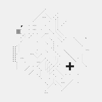 Element projektu złożonego w stylu usterki na białym tle. przydatny do wydruków, plakatów i okładek.