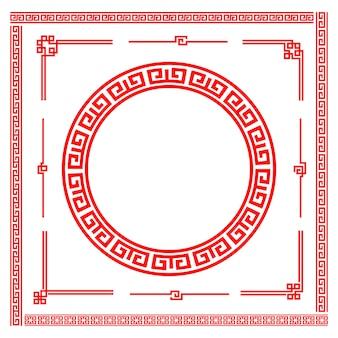 Element ramy w stylu chińskiej sztuki granicznej