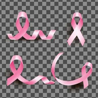 Element różowej wstążki dla świadomości raka piersi