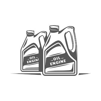 Element serwisu samochodowego. olej na białym tle.