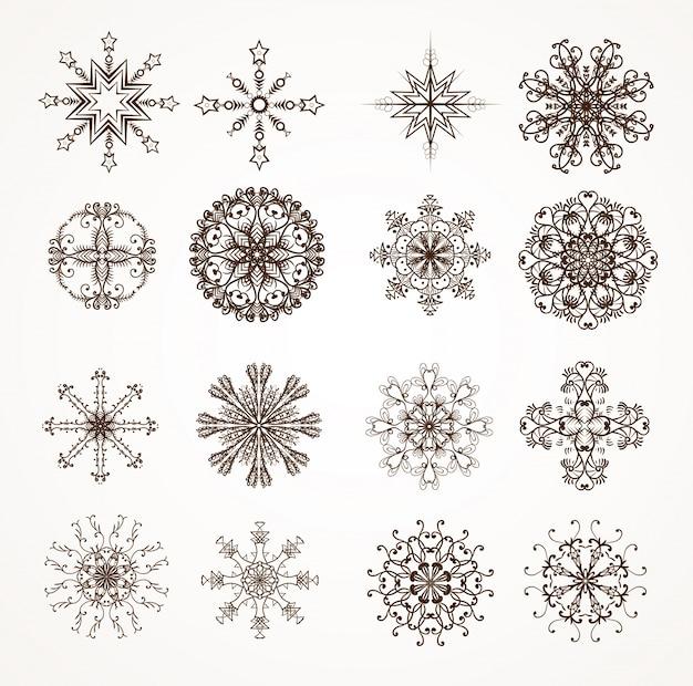 Element śniegu zamrożone ikonę dekoracji