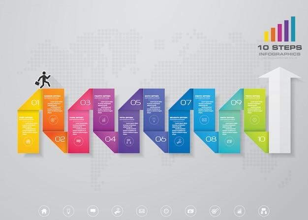 Element strzałki nowoczesny plansza wykres