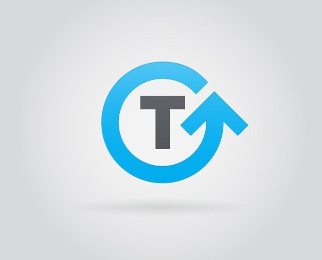 Element szablonu ikony logo w liście