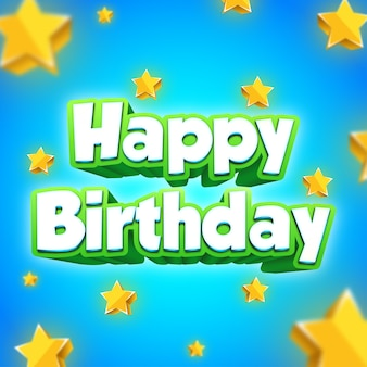 Element tekstu z okazji urodzin z gwiazdami