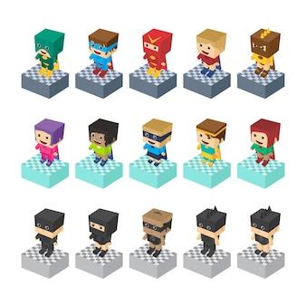 Element wyposażenia gry hero charakter postaci