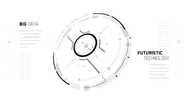 Elementy 3d koło futurystycznej technologii.
