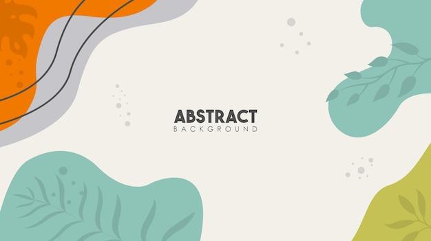 Elementy abstrakcyjne tropikalne liście kwiat plakat tło