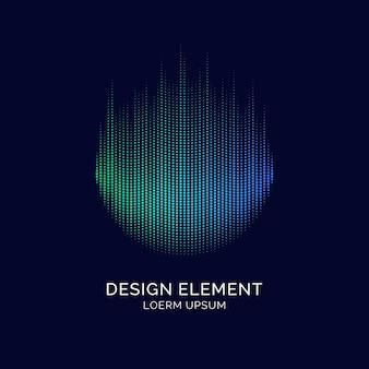 Elementy abstrakcyjne z dynamicznymi liniami i cząsteczkami. ilustracja wektorowa w płaskim minimalistycznym stylu