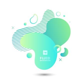 Elementy abstrakcyjne zielony płyn kształt graficzny