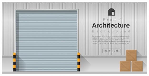 Elementy architektury, tło drzwi fabryki
