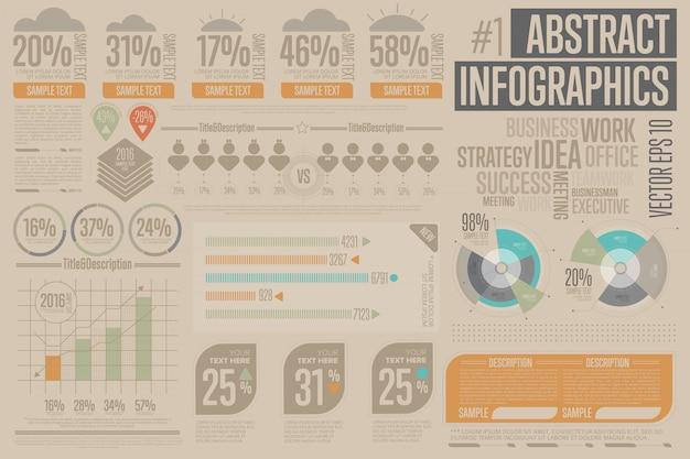Elementy biznes infographic. wykres, ikona.