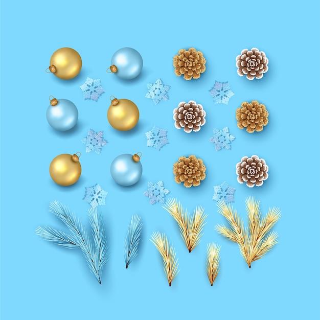 Elementy bożego narodzenia i nowego roku