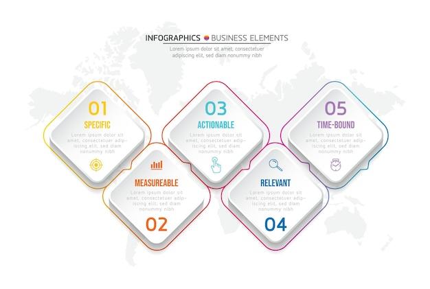 Elementy do infografiki. prezentacja i wykres. kroki lub procesy. opcje numer projektu szablonu przepływu pracy. 6 kroków.
