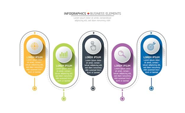 Elementy do prezentacji infografiki i wykresu