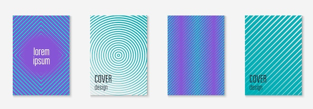 Elementy geometryczne linii. niebieski i fioletowy. aplikacja internetowa memphis, prezentacja, raport, koncepcja tapety. geometryczne elementy linii na minimalistycznym modnym szablonie okładki.