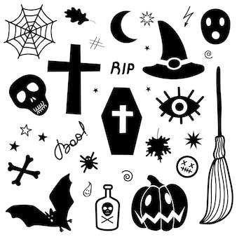Elementy halloween ilustracja wektorowa