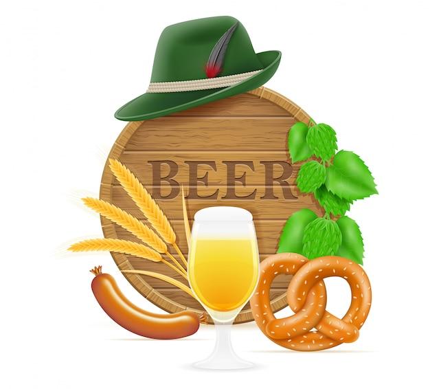 Elementy i przedmioty oznaczające festiwal piwa oktoberfest