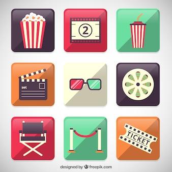 Elementy ikony kina